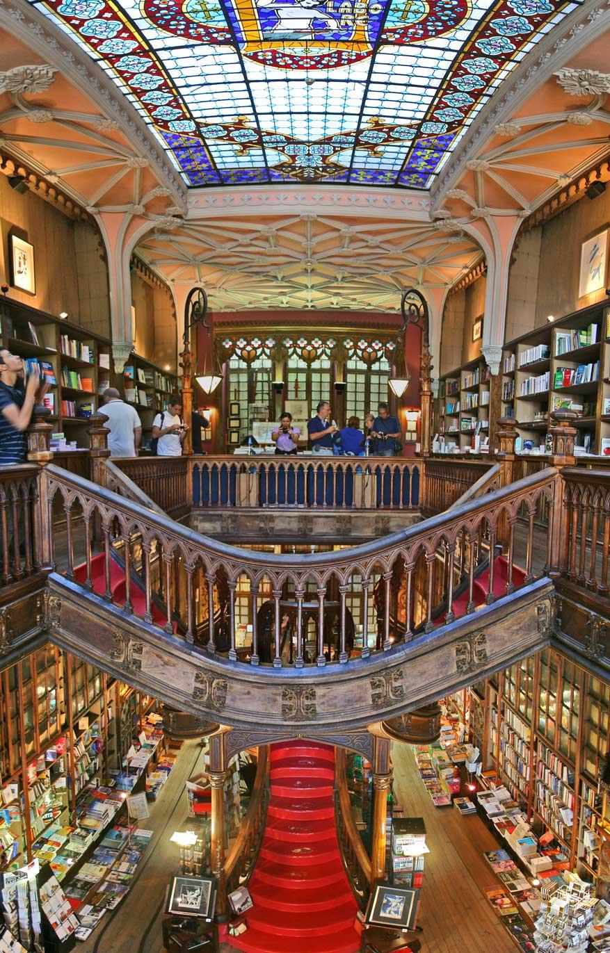 Portuguese bookstore, Livraria Lello interior shot.