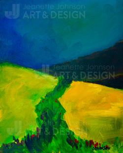 """Storm Before the Hillside""  by Jeanette Johnson"
