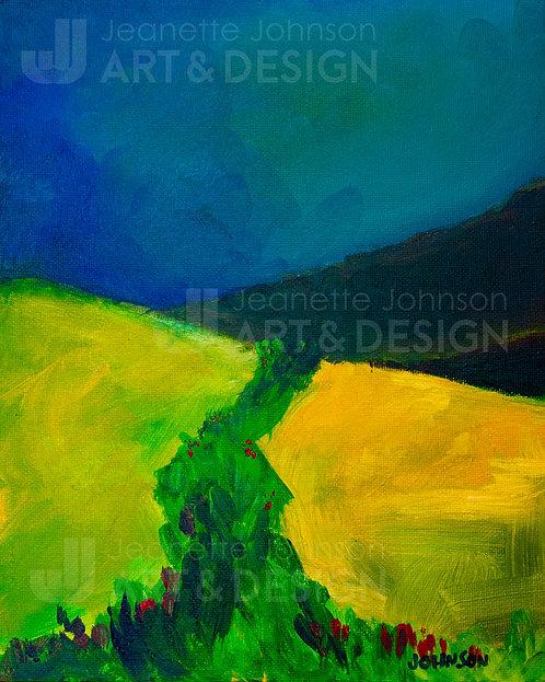 Storm Before The Hillside - Digital Print on Watercolor or Premium Matte Paper
