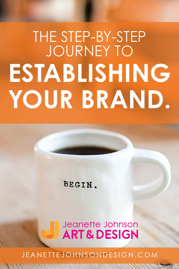Pin image for The step-by-step journey to establishing your brand article.