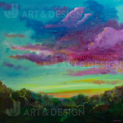 """""""Magenta Clouds"""" by Jeanette Johnson"""