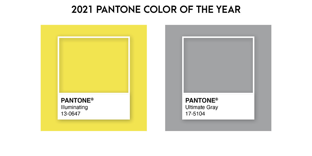 Pantone Color of the Year for 2021 is Illuminating Yellow and Ultimate Gray.