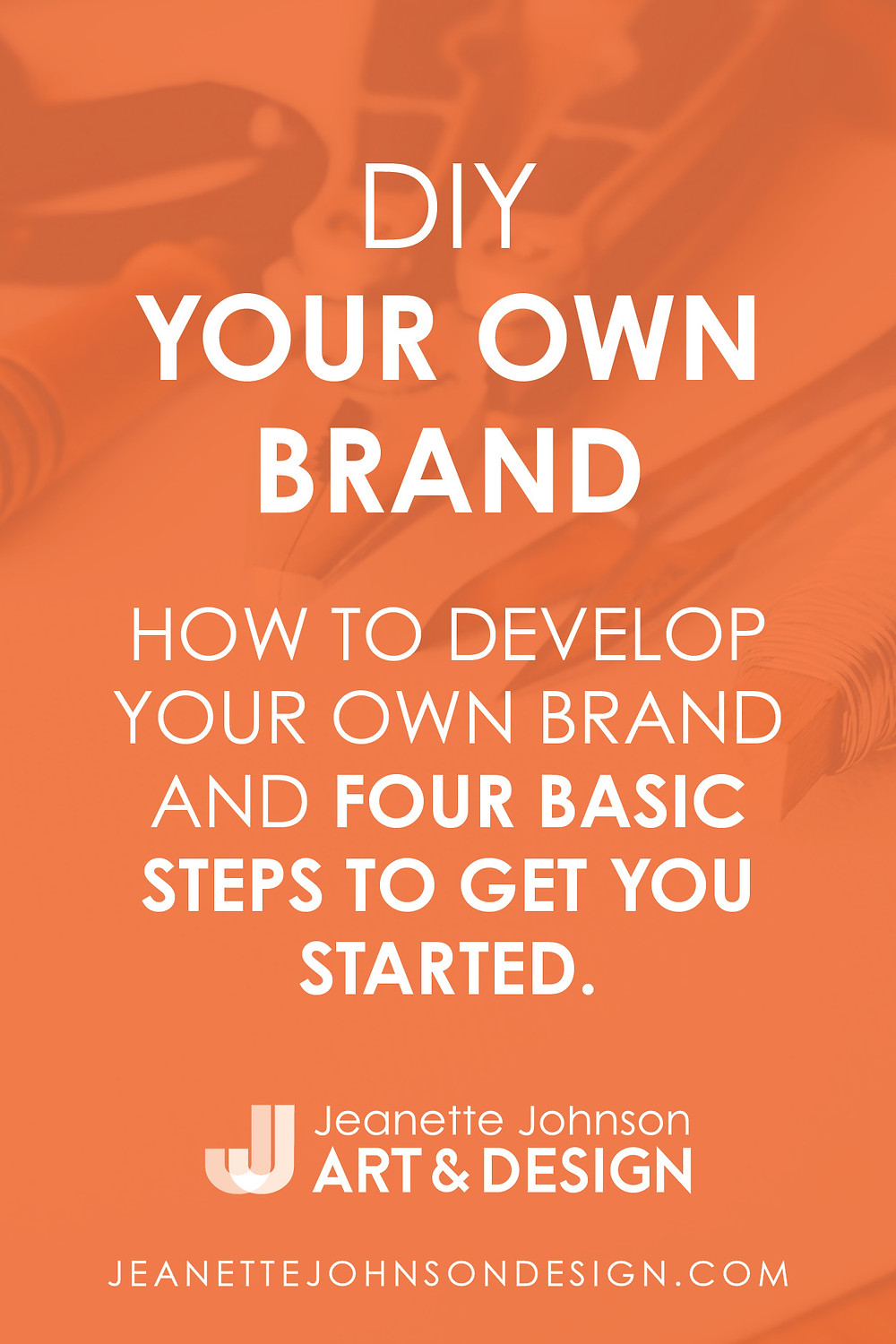Pin Image for how to DIY your own brand article.