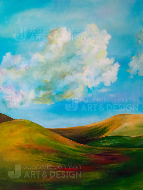 Western Pasture - Flat Canvas Reproduction