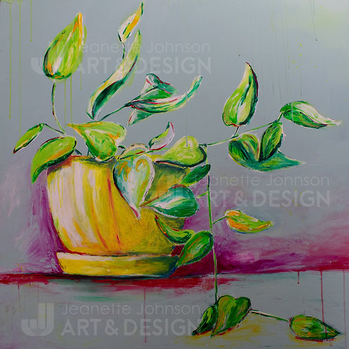 Plant Study II - Stretched Canvas Reproduction