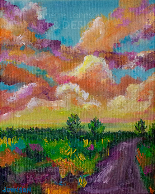 Sun Shock Grasses - Stretched Canvas Reproduction