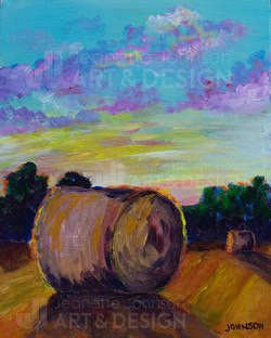 """""""Bale Study I"""" by Jeanette Johnson"""