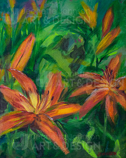 """""""Day Lily Study I"""" by Jeanette Johnson"""