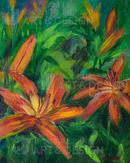 Day Lily Study I - Stretched Canvas Reproduction