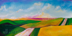 """""""Running Road"""" by Jeanette Johnson"""