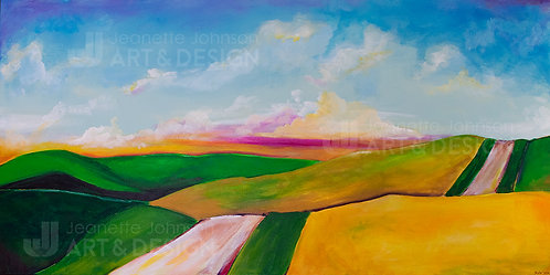The Running Road - Digital Print on Watercolor or Premium Matte P