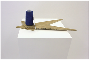 sculpture, Compass for Downside Up World, NaoKo TakaHashi, text, mirror