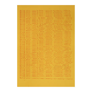 text score, concrete poetry, typed text, NaoKo TakaHashi, The body pulled