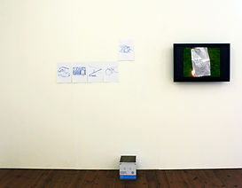 Installation, Drawing, video, NaoKo TakaHashi, Yesterday, today and tomorrow in a Messmerising mess
