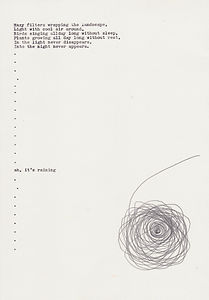 drawing, typed text, At white planet, NaoKo TakaHashi
