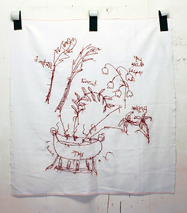 Stitch drawing, NaoKo TakaHashi, Over excited dish of the day