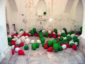 Installation art, NaoKo TakaHashi, Jerusalem show, baloons, jerusalem