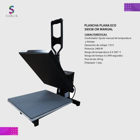 Plancha plana eco 38x38 manual