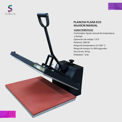 Prensa plana eco 40x50cm manual