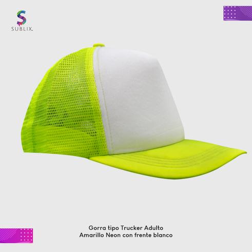 gorra adulto amarillo neon