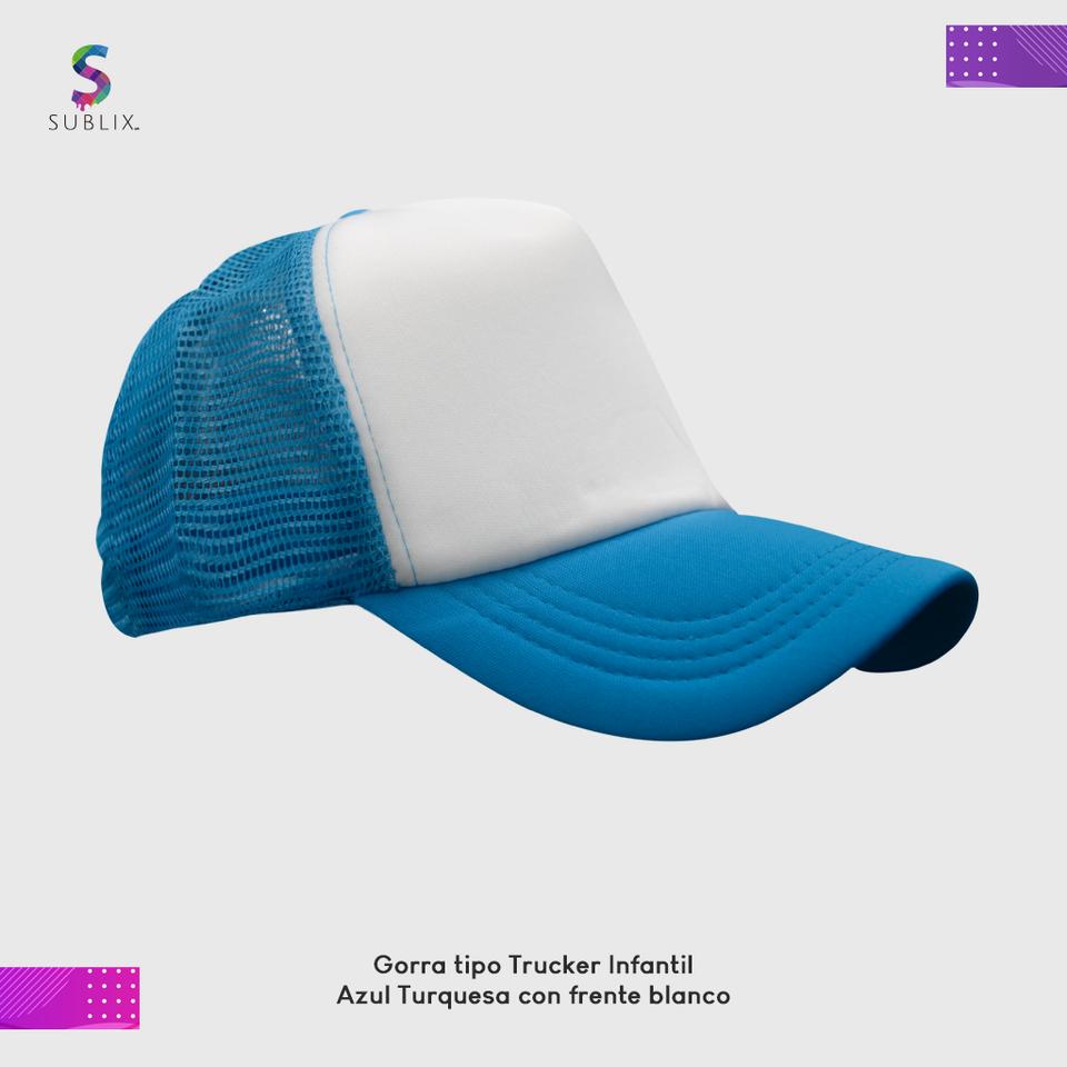 gorra infantil turquesa