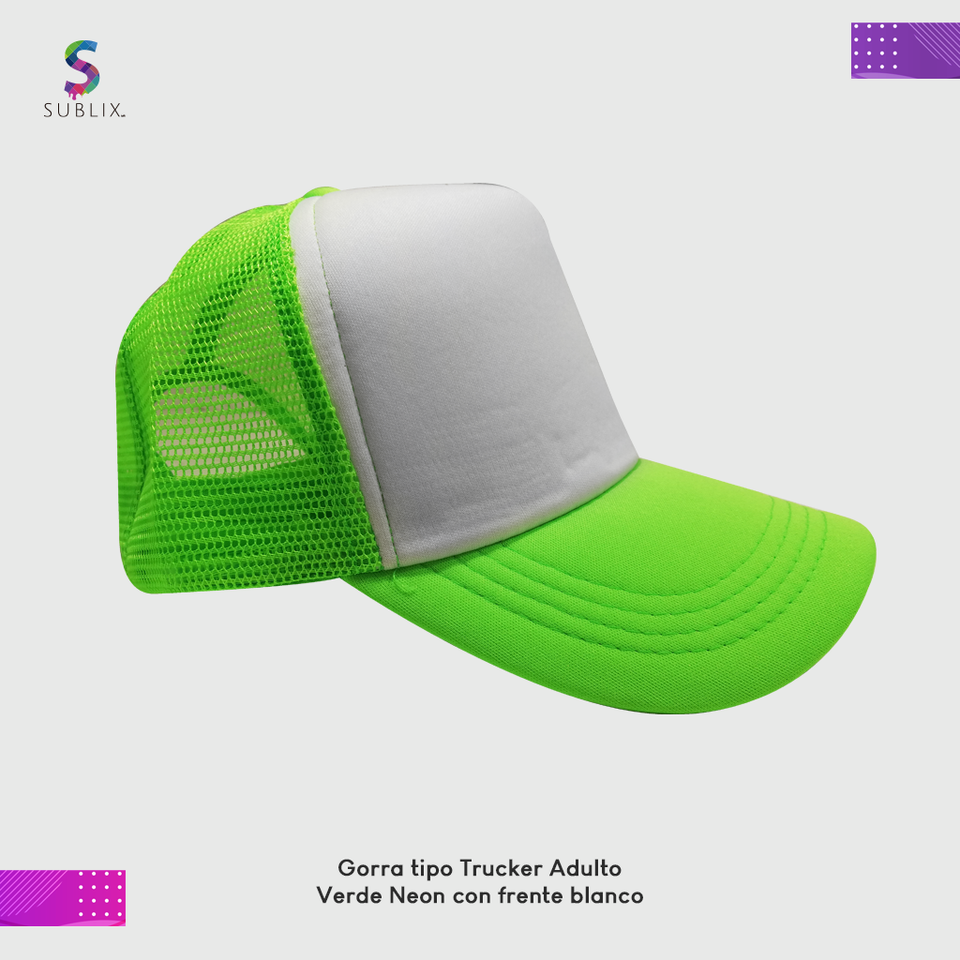 gorra adulto Verde neon