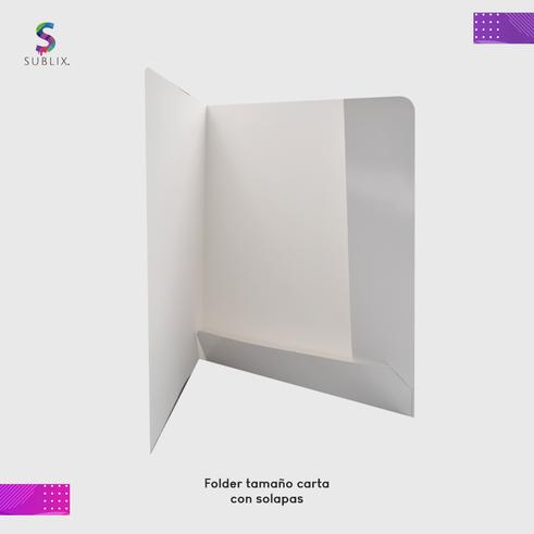 folde tamaño carta con solapas