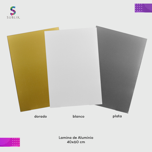 Placa de aluminio 40x60cm