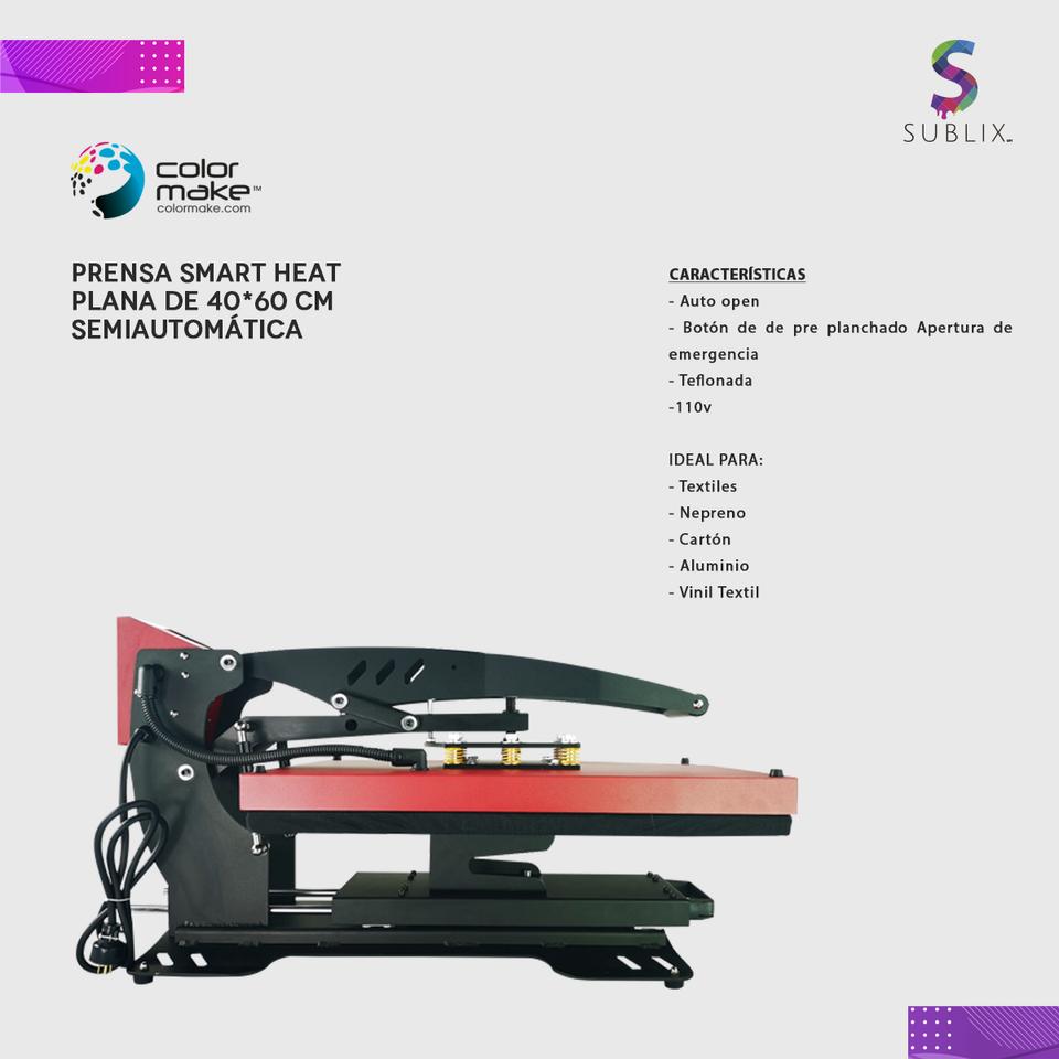 Plancha 40x60cm smart heat automatica