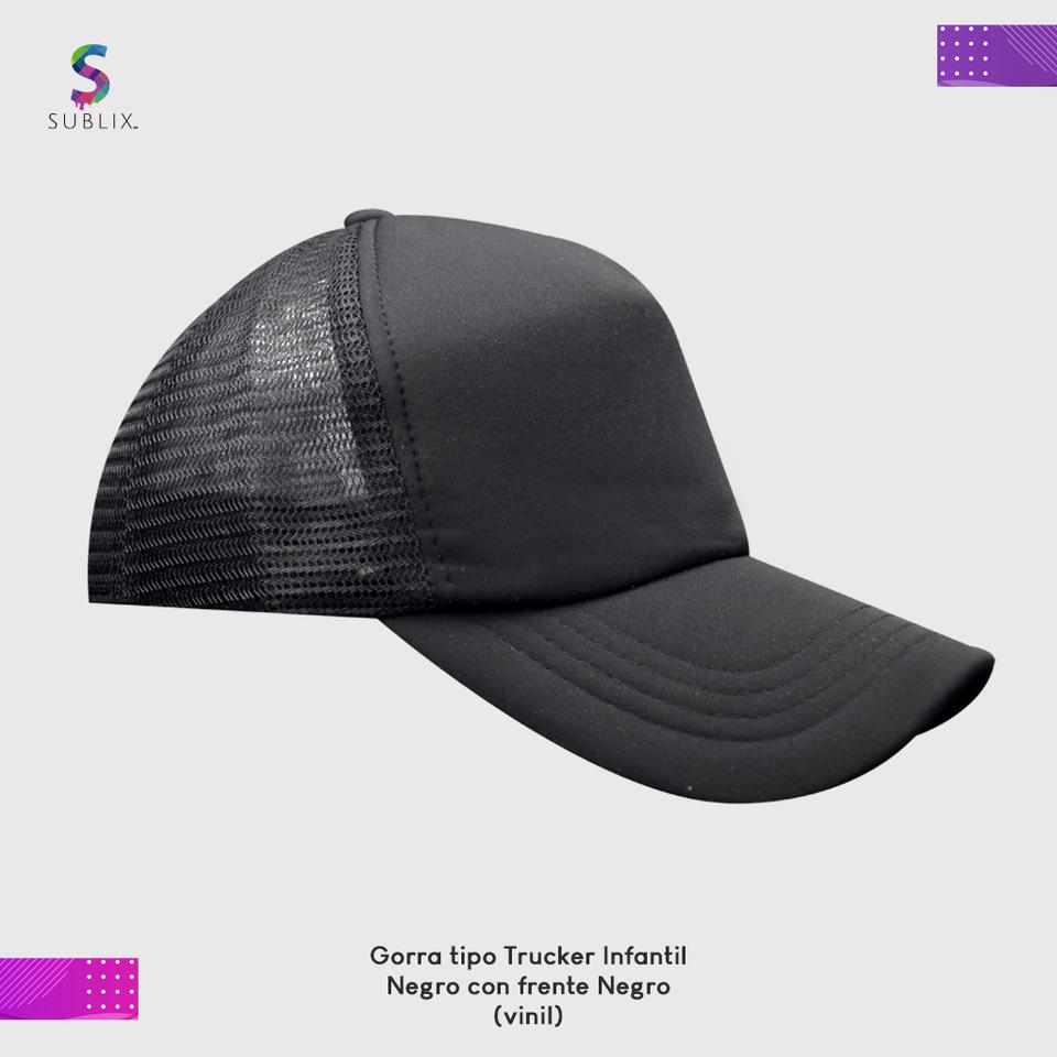 gorra infantil negro completo