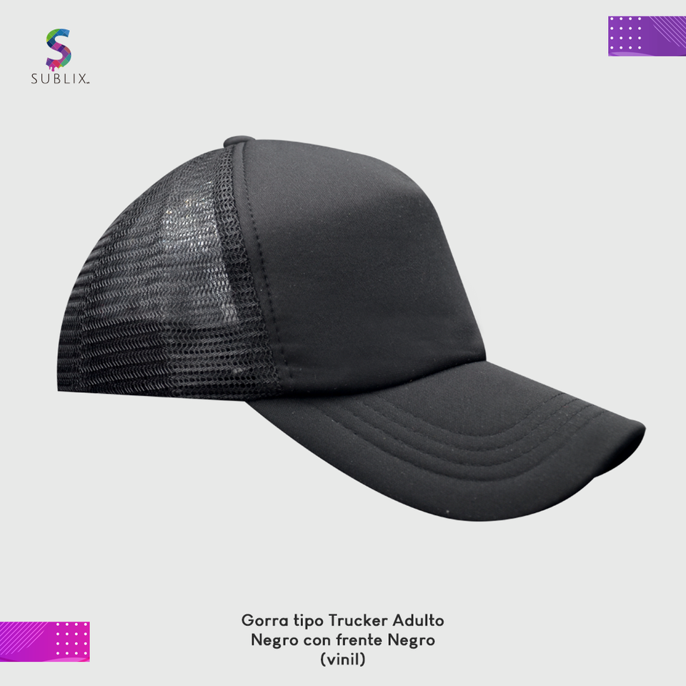 gorra adulto negro completo