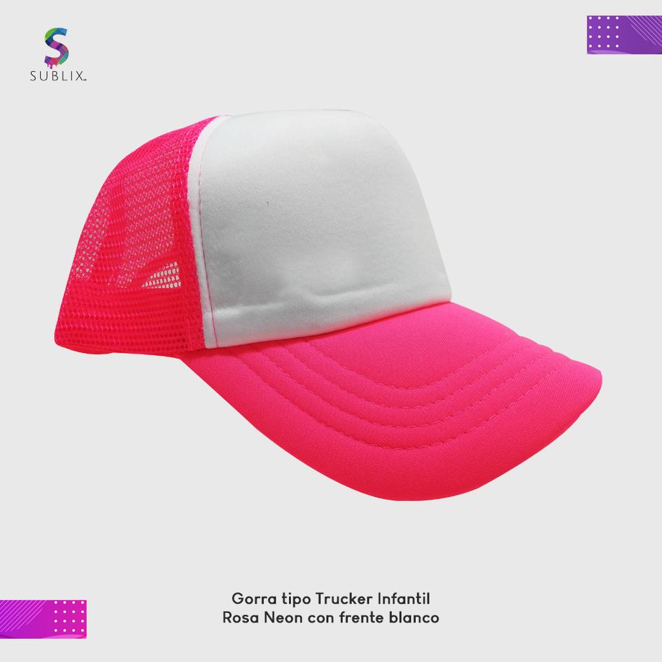 gorra infantil rosa neon