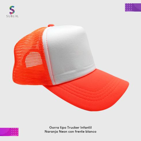 gorra infantil naranja neon