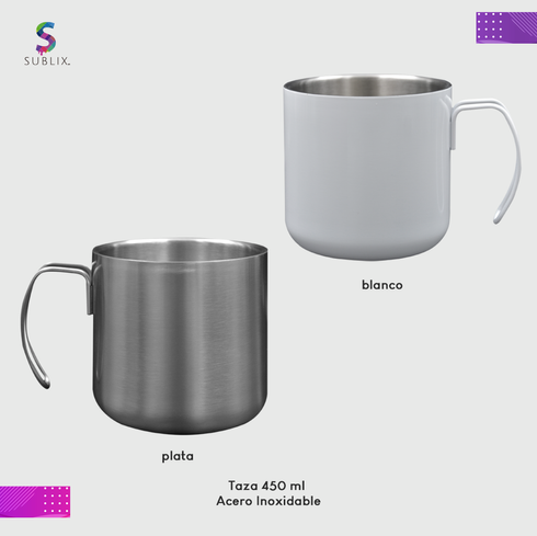 Taza de acero 450 ml