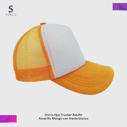 gorra adulto amarillo mango
