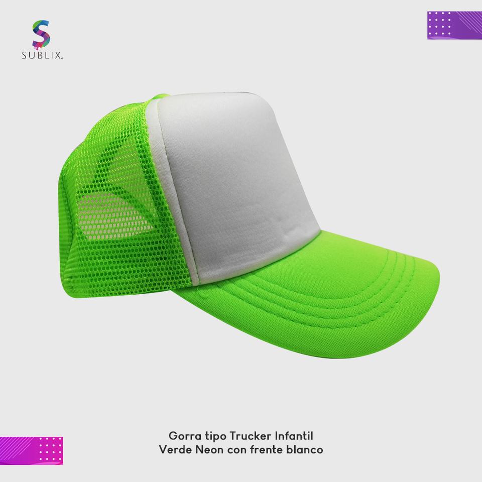 gorra infantil verde neon