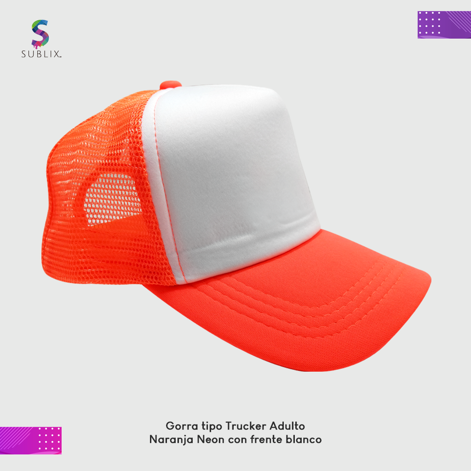 gorra adulto Naranja neon