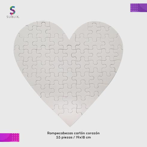Rompecabeza carton de corazon