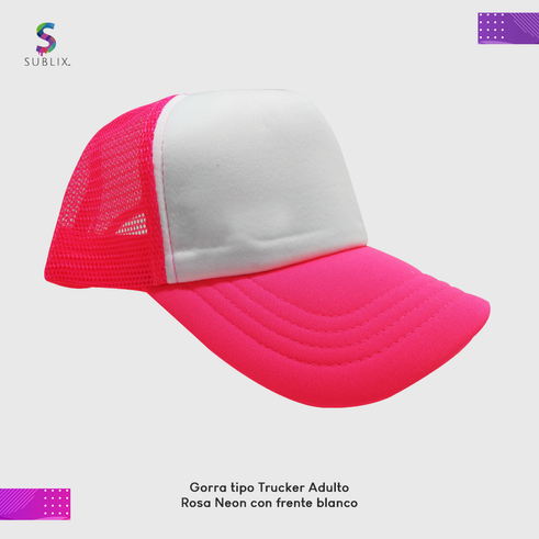 gorra adulto rosa neon