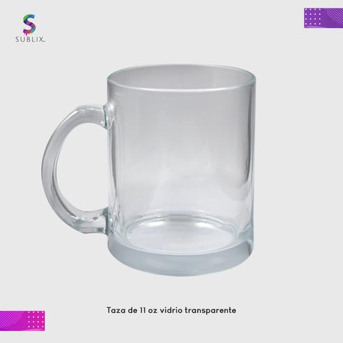 taza 11 oz vidrio transparente