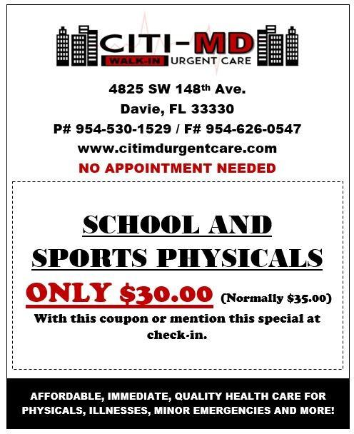 School and Sports Physical Coupon