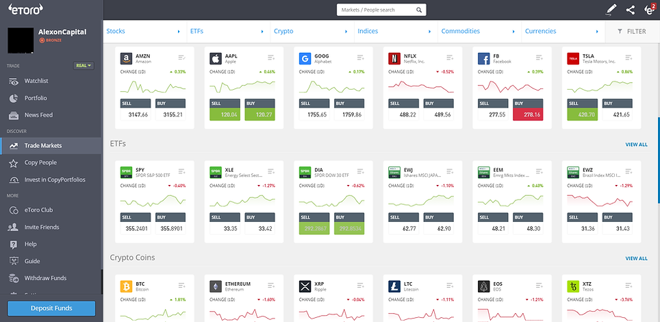eToro's trading platform is simple to use and has an excellent user experience.