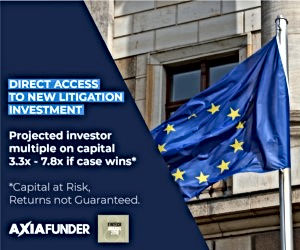 Plataforma innovadora para invertir en casos de litigio, es decir, los inversores compran juicios que tienen alto potencial de cobro.