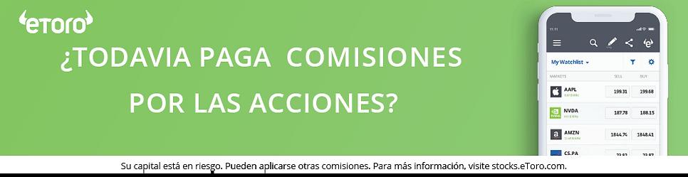 Invertir en Acciones Internacionales con 0% de Comisión desde Uruguay con eToro