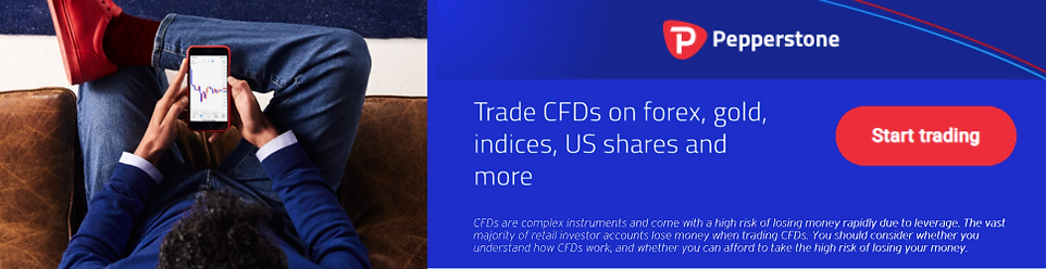 Trade CFDs on forex, gold, indices, US shares and more with Pepperstone.