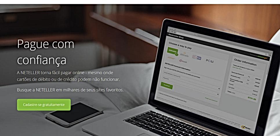 A NETELLER torna fácil pagar online - mesmo onde cartões de débito ou de crédito podem não funcionar.