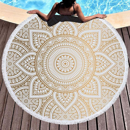 Round Beach Blanket Mandala Tapestry Indian Picnic Table Cover Beach Towel