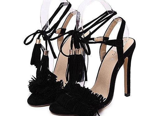 Ladies's High-Heel Fringe Pumps