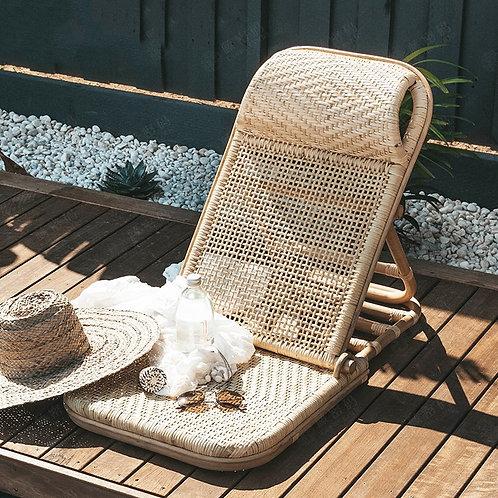Rattan Beach Chair Handmade Rattan Folding Beach Chair, Backrest Portable Chair