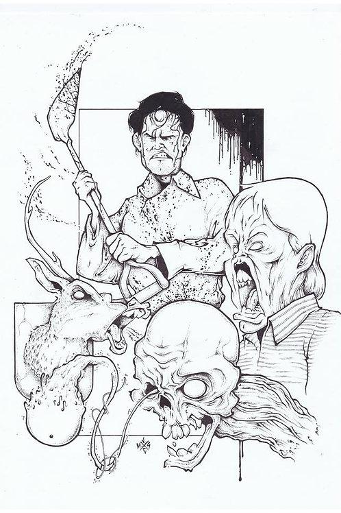 Evil Dead II Fanart Inkwork